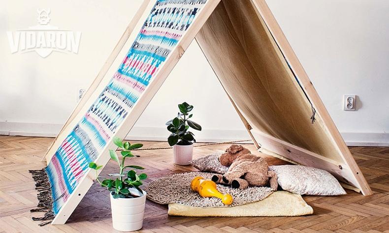 Namiot do zabawy w dziecięcym pokoju